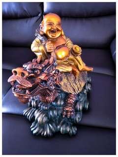 Laughing buddha on Long Gui Dragon Turtls