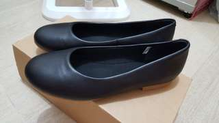 Muji Leather shoes Black 24.5cm