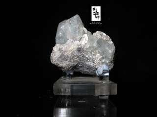 【海藍】中國四川雲母頂海藍寶石原礦