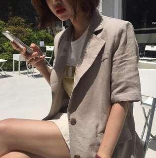 Minimei追加款✪韓系韓版歐美風百搭休閒俏皮修身百搭薄款西裝式外套百搭