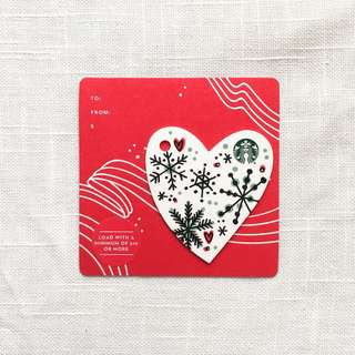 Starbucks Christmas Heart Card - US