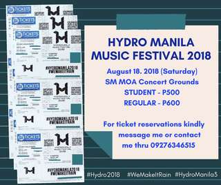 Hydro Manila Music Festival 3 Tickets
