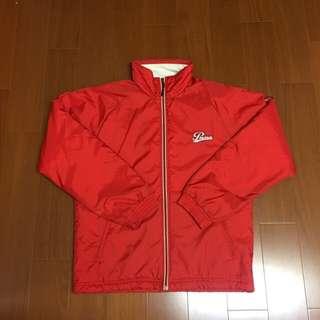 🚚 (Size 美版M) Puma 復古紅色立領鋪棉保暖外套