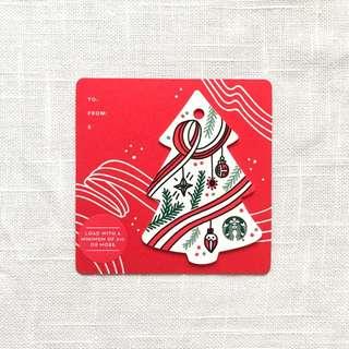 Starbucks Christmas Tree Card - US