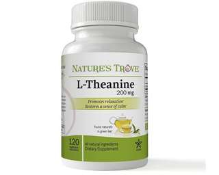 [IN-STOCK] L-Theanine 200mg by Nature's Trove - 120 Vegetarian Capsules