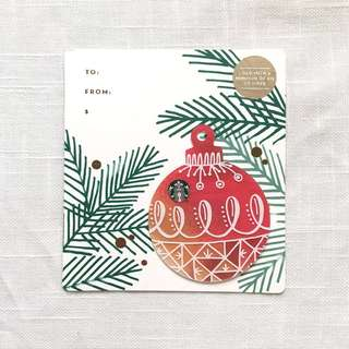 Starbucks Red Christmas Ornament Card - US
