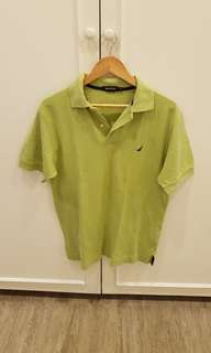 Lime green Nautica knitted polo