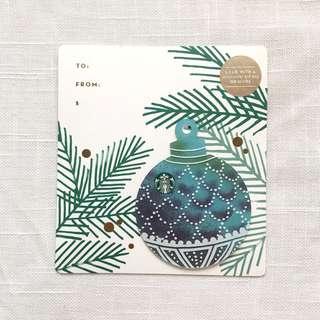 Starbucks Green Christmas Ornament Card - US