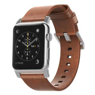 Nomad Horween Leather Strap for Apple Watch-Silver Hardware