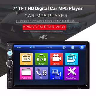 7010B 7 INCH BLUETOOTH V2.0 CAR AUDIO STEREO TOUCH SCREEN MP5 PLAYER SUPPORT SD USB FM RADIO