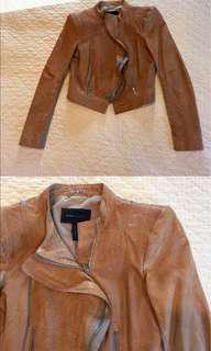BCBG Maxazria Soy Chai moto leather jacket