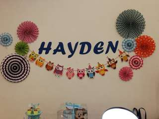🚚 Customized Alphabets Banner Wall Baby Shower Wedding Parties