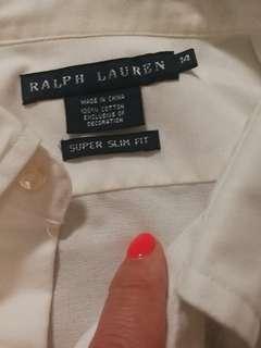 Ralph Lauren shirt size 14