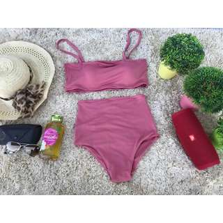 Old Rose High-waisted Two Piece