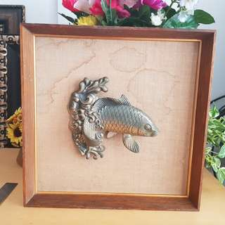 wall frame 3D fish