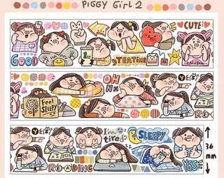 Washi Tape- Meatball Piggy Girl 2