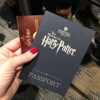 Harry Potter Studio Tour Passport