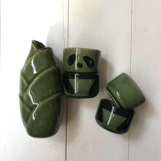 禮品/ 收藏  熊貓陶瓷杯壼組