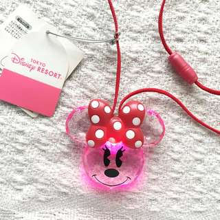 Tokyo Disney Resort Girls' Minnie Mouse Light-Up Pendant Necklace