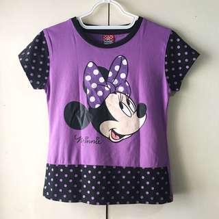 Disney Minnie Mouse Girls' Purple Shirt (Size 12)