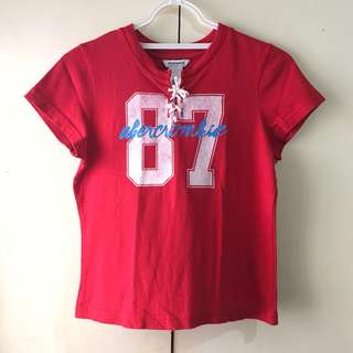 Abercrombie Girls' Red Shirt (Size L)