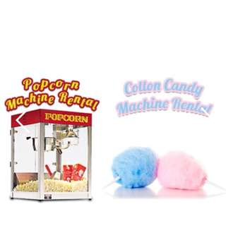 POPCORN AND COTTON CANDY FOR YOUR EVENT! PROMO NOW!