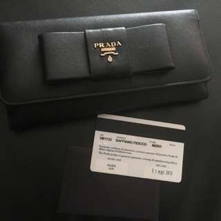 🚚 Prada 1M1132 saffiano fiocco nero authentic