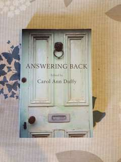 Answering Back, edited by Carol Ann Duffy