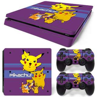 Pikachu Skin Sticker For PS4 SLIM