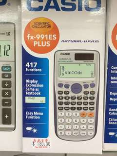 Casio計數機 計算機 fx991 ES Plus calculator