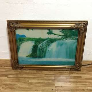 Waterfall Painting with Light Box Water Flowing Effect