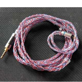 德國新款線材銅銀混編 銀線(藍色)+銅線(紅色) 8絞 CM 0.78 2.5直插