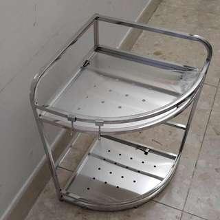 不銹鋼轉角兩層置物架 廚房 廁所