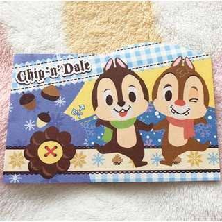 日本版 - 懷舊絕版卡通公仔利是封 小信封 Disney Chip&Dale 奇奇與蒂蒂 鋼牙與大鼻