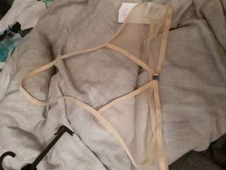 Mesh Front Clasp Bralette New size S