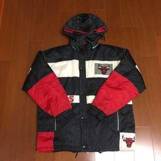 🚚 (收藏釋出 Size 美版S) 韓國製 稀有NBA pro Player 芝加哥公牛隊 復古鋪棉保暖外套