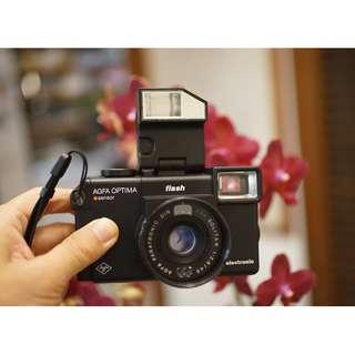 個人收藏經典德國大紅鈕系列輕便相機 AGFA OPTIMA flash漂亮相機