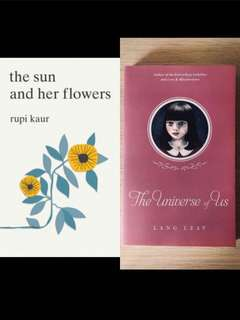 🚚 Instocks | bn the sun and her flowers / the universe of us rupi Kaur lang leav