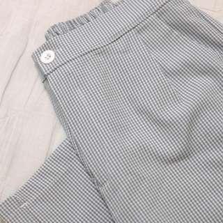 🚚 材質超好ㄉ格子寬褲