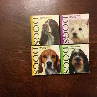 Dog Puppy Puzzle 4 set