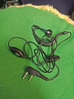 Walkie-talkie earpiece for