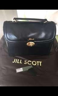 全新Jill Scott 黑色皮單肩手袋