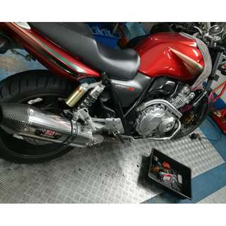 Handlebars color (red) + Goldfren brake pad + rear caliper O-ring and caliper service!!!