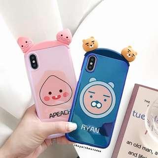 Kakao Friends Ryan Apeach Iphone X / 8+ / 7 / 6S casing
