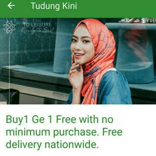 Tudung Kini Buy 1 Free 1 Voucher