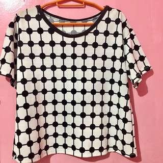 Dots hanging blouse