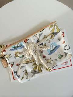 (Authentic) Coach Pierre Le-Tan Large Wristlet (Limited Edition Beach Collection)