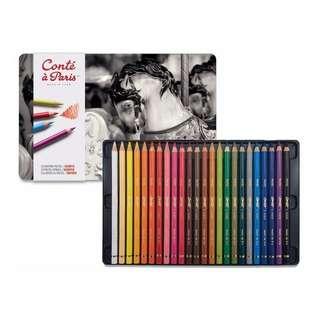 24 pcs Conté à Paris Pastel Pencil Pencils