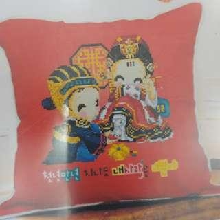 DMC Cross Stitch Pillow Case Kit Set