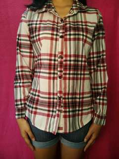Red and White Plaid Shirt